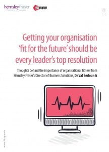 Getting your organisation fit for the future HF 5App