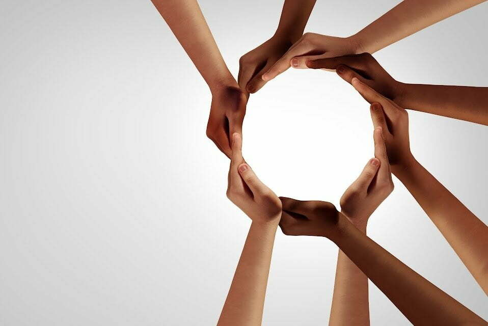 Hands in a circle - partnership